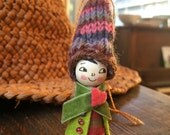 Loobylu Wintery Elf OOAK Ornament No.14