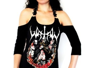 Watain shirt metal clothing tunic top alternative apparel reconstructed altered band tee t-shirt rocker chic dark style