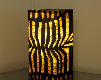 "Batik Accent Lamp ""Amber Radiance"""