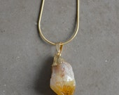 Citrine Pendant Necklace by Catherine Nicole