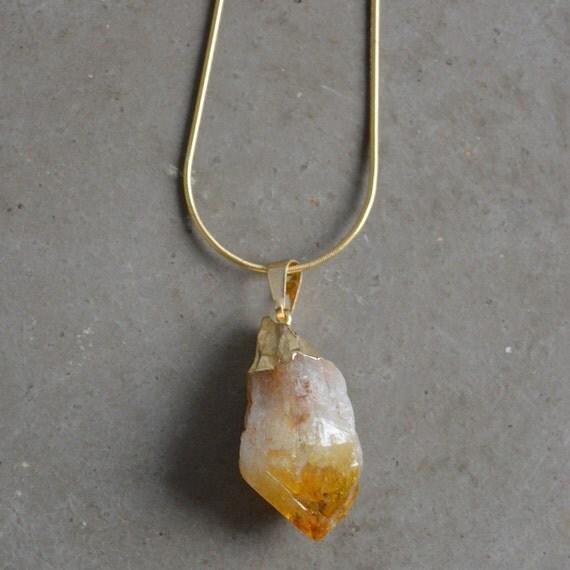 Citrine Pendant Necklace by Catherine Nicole