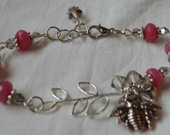 Ruby & Crystal Bracelet