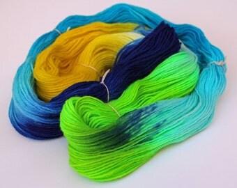 Under The Sea - 100% lamb wool sock yarn