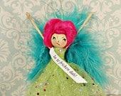 La te fricken dah doll ornament drama queen sassy brat pink green blue vintage retro inspired toni Kelly original