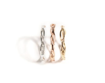 14k Rose Explorer Ring | 14k Rose Gold Stackable Ring