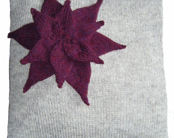 Flower Cushion Cover Knitting Pattern