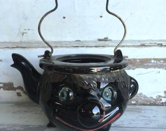 Vintage Redware Teapot Thames Clown