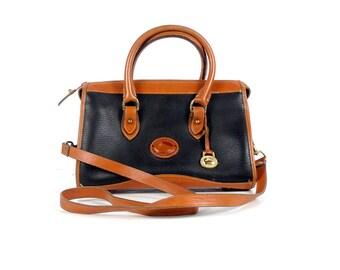 Vintage Dooney Bourke Hand Bag - R29 - Classic Satchel - 90s Dooney & Bourke - Top Handle Bag - Shoulder Bag - Black Hand Bag - Purse