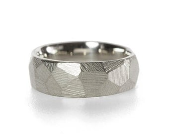 Faceted Wedding Band