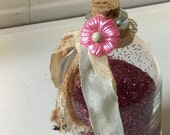 Sweet Dreams | Glitter Shaker with pink flower charm
