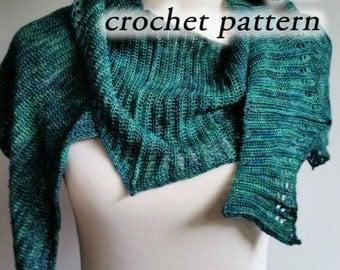 Crochet Pattern pdf - Dragonwing Shawl