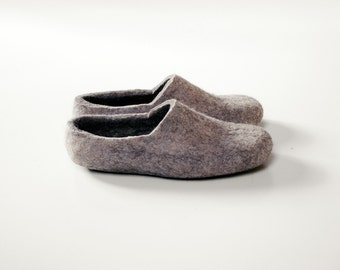 Boiled wool clogs Men Women house shoes Felt organic wool slippers shoe
