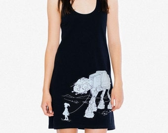 My Star Wars AT-AT Pet - American Apparel Racerback Tank Mini Dress , Geek Dress ( Star Wars Dress )