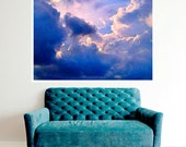 Clouds Poster Instant Digital Download Art Print Sky Mixed Media Modern Home Wall Decor DIY Blue White Nature Photography Skies All Sizes