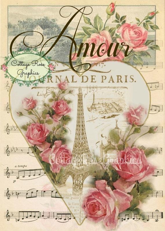 Paris Amour Vintage Valentine Large Digital Download Ecs Buy 3