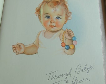 Vintage Baby Book Girl