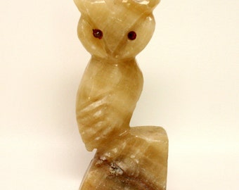 Alabaster Owl Bookend