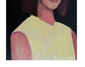 Dark Moody Woman Portrait Print. Portrait Art Oil Painting Print. Home Wall Prints Decor. Wall Art Prints. Apartment Wall Decor