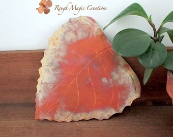 Metal Birch Leaf Wall Hanging. Hammered Copper Rustic Metalwork Autumn Leaves Choice of Size. Fall Colors. Primitive Style Home Decor