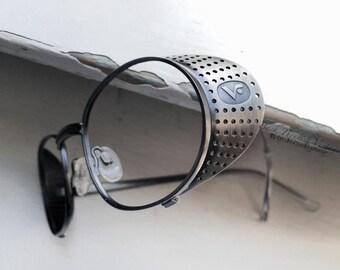 Motorcycle Goggles Driving Glasses Florence Vogue Steampunk Eyewear Italian Gunmetal Eyeglasses Eyeglass Frames 90's Vintage Industrial