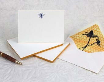 Bee Fancy Pants - Letterpress Notecards