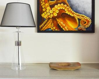 Octopus Original Painting, gouache watercolor, large framed art, 22 x 30
