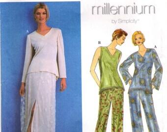 1990s Simplicity 8626 UNCUT Sewing Pattern Woman's Skirt, Pants, Tunic Size 16 - 18 - 20 Bust 38 - 40 - 42