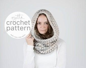 Crochet Pattern / Chunky Cowl Scarf, Tube Cowl, Shawl Hood, Thermal / THE TOK