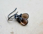 Smokey Quartz, Quartz Earrings, Light Brown, Mocha, Drop Earrings, Dangle Earrings, Gemstone Earrings, Sterling Silver, PoleStar
