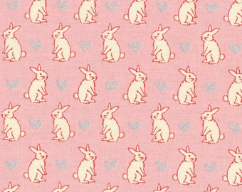 Radiant Girl Fabric by Lecien - Bunny L49181-20 Pink
