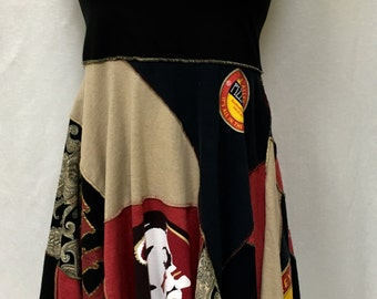 FSU Dress Skirt Poncho 3 in 1 garment
