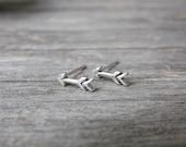 Arrow Earrings in Sterling Silver