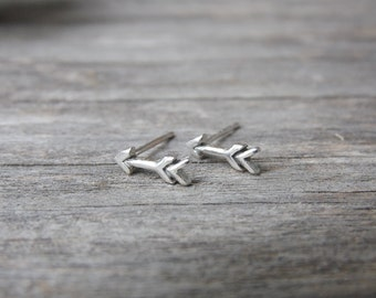 Arrow Earrings in Sterling Silver