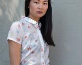 SALE - Cotton Blouse - 'Sweet Abandon' blouse in 'Gaze in Wonder' print