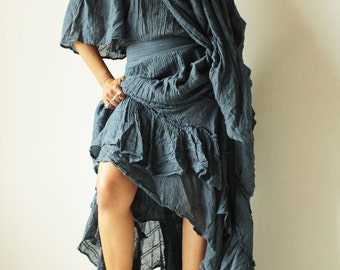 Asymmetric gypsy dress ... hippie, boho, elegant