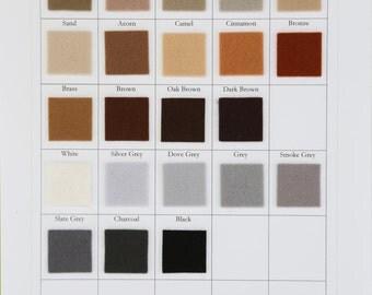 Brown, Grey, Black, White Felt, CHOOSE THREE SHEETS, 8 x 12 Inch, 1mm Thick Felt, Merino Wool