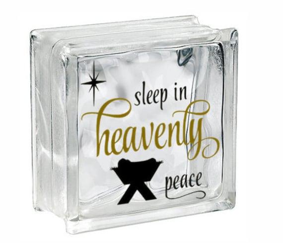 DIY Christmas Decor Christmas Light Glass Block Decal Nativity - Nativity vinyl decal for glass block light