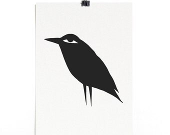 Crafty Crow - A4 Recycled Art Print