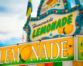 Homemade Lemonade Carnival Food Vendor Fine Art Print- Carnival Art, County Fair, Nursery Decor, Home Decor, Children, Baby, Kids