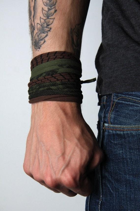 Bracelet, Green Bracelet, Brown Bracelet, Cuff Bracelet, String Bracelet, Yoga Bracelet, Chunky Bracelet, Unique Bracelet, Fashion Bracelet