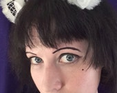 Black and White Kitty Ears