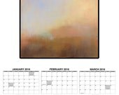 2016 Calendar, Abstract Landscape Prints, Functional Art, Fine Art Prints, 2016 Wall Calendar, Wall Decor, Planner, Landscape Paintings