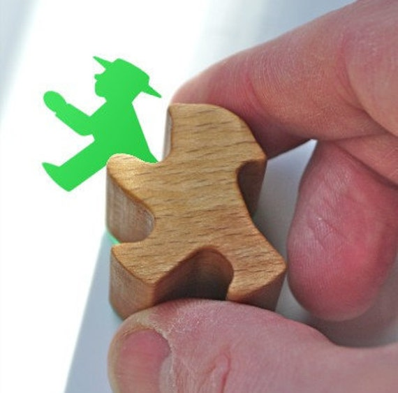 Ampelmännchen Rubber Stamp, German Traffic Lights Little Green Man