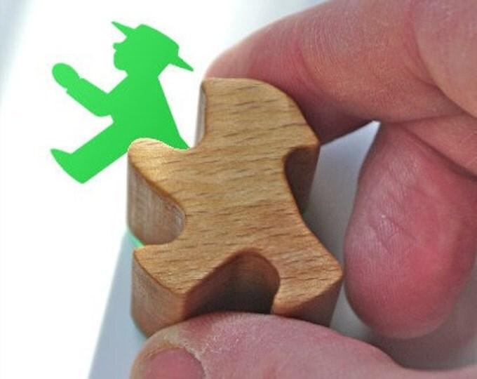Ampelmännchen Rubber Stamp, German Traffic Lights Little Green Man