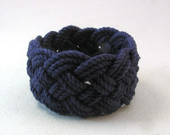 navy blue turks head knot sailor bracelet small 3962