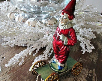 GoRGeoUS ViNTaGe CHRiSTMaS PuLL ToY by R. A. Smith Fine Toys