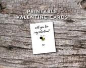 printable valentine cards will you be my valentine last minute valentine instant download school valentine party valentines for kids