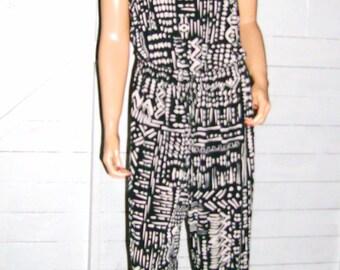 Calvin Klein Black Beige Jumpsuit 10