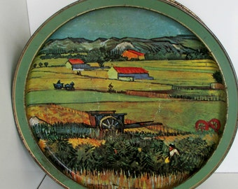 Vintage Sunshine Cracker Biscuit Tin Van Gogh Biscuit Tin Box