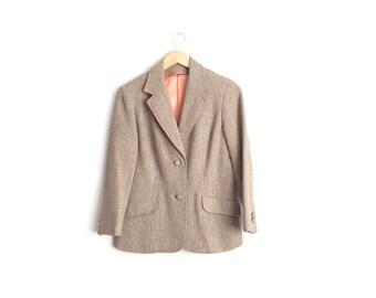 SALE // Size S/M // TWEED BLAZER // Brown - Tailored - Vintage '70s/'80s.